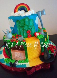 Wizard of Oz Cake Buttercream Icing, Fondant Accents https://www.facebook.com/ItsAPieceofCakeWV