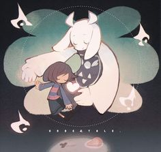 Frisk and Toriel (Undertale) - ? Undertale Toriel, Undertale Fanart, Undertale Drawings, Best Rpg, Toby Fox, Adventure Games, Video Game Art, Video Games, Anime
