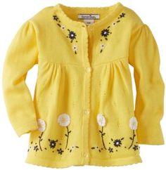 Hartstrings Baby-Girls Infant Cotton Long Sleeve Cardigan Sweater, Lemon Glass, 6-9 Months Hartstrings. $42.00