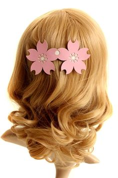 The hair clip barrette made of PU, featuring cherry shaped design. It makes you sweet and fashion.$20