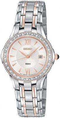 Seiko Ladies Le Grand Sport - 30 Diamonds - White Dial - Steel & Rose Gold Tone
