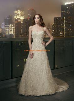 Sexy schöne Brautkleider 2014 aus Satin mit Spitze