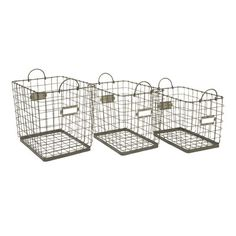 IMAX Newbridge Wire Storage Baskets (Set of 3)
