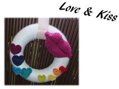 Türkranz Love&Kiss von berli design meine Häkelwelt für Groß und Klein auf DaWanda.com