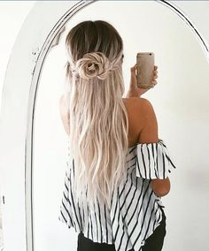 White Striped Flow Top -WINDSOR