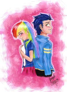 Rainbow Dash and Soarin human by janadashie on DeviantArt