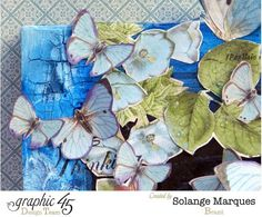 The beautiful butterfly details on Solange's Botanical Tea layout #graphic45 #layouts