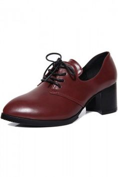 f8c297a91cf LUCLUC Burgundy Leather Pointed Shoes Chaussures Bordeaux