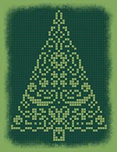 Free cross stitch Christmas tree - grids Liselotte