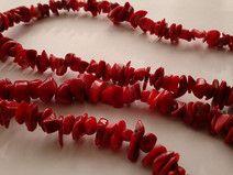 Sznur korali - czerwony koral