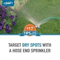 Target dry spots with a hose end sprinkler