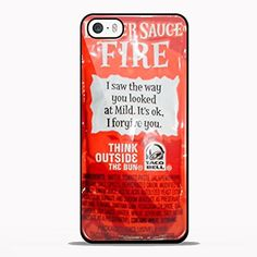 Taco Bell Sauce Fire Design Design for Samsung Galaxy and Iphone Case (iPhone 5/5S black)