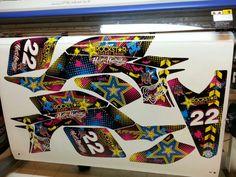 Yamaha YFZ 450 rockstar Hart and Harrington multicolor graphics kit