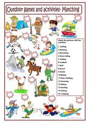 It can be used for collaborative learning purposes. First, students are given a couple of minutes to find individually as many words. Outdoor Summer Activities, Outdoor Games, Matching Games, English Vocabulary, Printable Worksheets, Esl, Hobbies, Language, Student