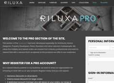 If you're an #Architect #InteriorDesigner #Plumber #Fitter #Installer #Builder #HouseBuilder #PropertyDeveloper or other type of relevant #tradesperson, sign up for a Riluxa Pro account today and enjoy generous #trade #rewards. Riluxa.com