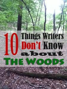 10 things writers don't know about the woods. Very Helpful
