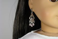 American Girl Doll Pale Pink Retro Earring by 2SistersSewCrafty, $5.00