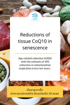 Age-related reduction CoQ10 with the estimate of 10% reduction in mitochondrial respiration every ten years . Programming, Nutrition, Age, Computer Programming, Coding