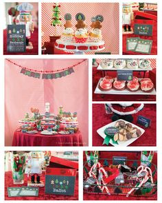 Chalk Style Holiday or Christmas Cookie Exchange by PuzzlePrints, $20.00