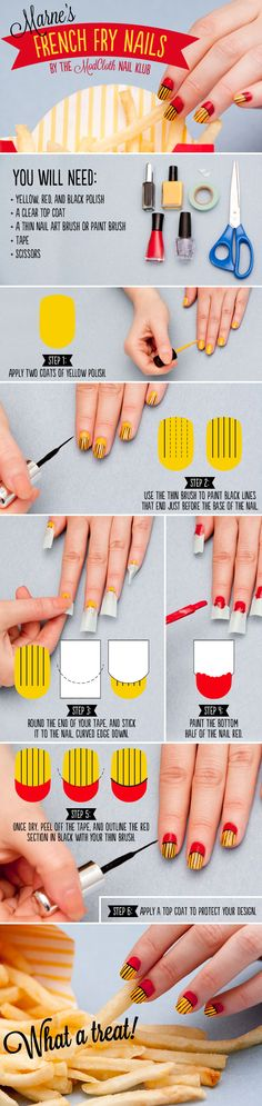 Do you want fries with that? #nailart #tutorial
