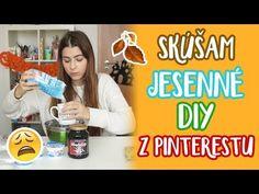 Skúšam jesenné DIY z Pinterestu 🍁 | Patra Bene 🎃 - YouTube Diy Videos, Scrubs, Life Hacks, Craft Projects, Paper Crafts, Internet, Tutorials, Youtube, Tissue Paper Crafts