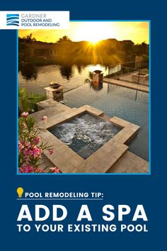 A spa is fantastic for entertainment, relaxation and combats stress. Adding this feature is definitely a good idea for in-ground pools. Make it special by adding lighting and your choice of features like air blowers or spa jets. Spa Jets, In Ground Pools, Stress, Relax, Entertainment, Ads, Lighting, Inspiration, Painting