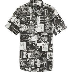 135fa8e3971137 WarholSurf Warhol Short Sleeve Shirt (105 BRL) ❤ liked on Polyvore  featuring men s fashion