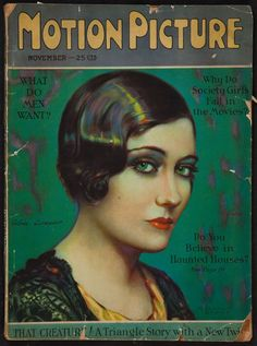 Gloria Swanson by Marland Stone, for Motion Picture Magazine, November 1926
