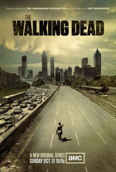 The Walking Dead (Season Sheriff Deputy Rick Grimes journeys through the zombie swarmed city of Atlanta looking for his family. Walking Dead Season One, The Walking Dead Saison, The Walking Dead Poster, Walking Dead Tv Series, The Walking Dead Tv, Walking Bad, Andrew Lincoln, Rick Grimes, Judith Grimes