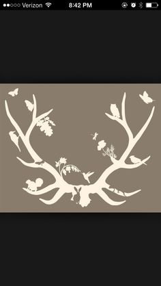 Antler Tattoo with animal silhouettes