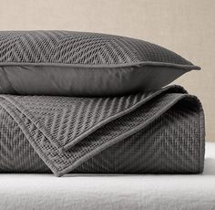 RH's Washed Herringbone Sateen Coverlet & Sham:FREE SHIPPINGAdd rich, supple texture to the bed with our coverlet and sham's intricately quilted herringbone pattern. A special garment-washing technique makes the cotton sateen bedding even softer.