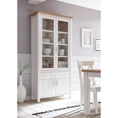 Colfax Display Cabinet Beachcrest Home Wall Mounted Display Cabinets, White Display Cabinet, Corner Display Cabinet, Kitchen Display, Buffet Cabinet, Side Table With Storage, Wood Storage Bench, Bed Furniture, Kitchen Furniture