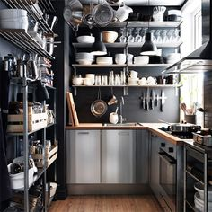 how to make small apartment flat townhouse house seem appear larger use kitchen walls open shelves