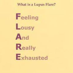 Lupus flare-also defined as a time period when you can only pin cool stuff on Pinterest, not actually do any of it.