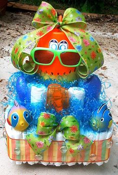 Summer Fun this is a cute diaper gift
