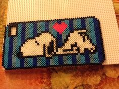 Snoopy phone cover perler beads