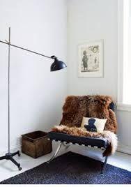 we love Barcelona chairs with sheepskin!