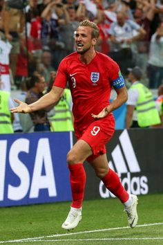 Harry Kane of England celebrates after scoring a goal to make it 12 during  the 2018 FIFA World Cup Russia group G match between Tunisia and England. 4da6059a6