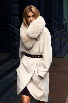 I love creme white coats for the winter! Everyone goes for the dark coats, but I think the light ones are so chic!