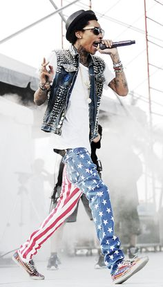 Wiz Kahlifa in Kill City's American Flag Junkies