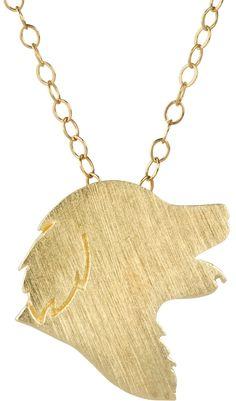 Golden Retriever Necklace Golden Retriever by silhouPETte on Etsy, $79.95