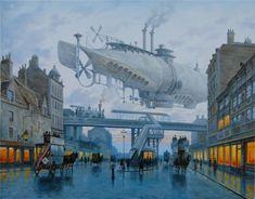 What could possibly be better than traveling in a dignified steam powered airship, surveying the prosperous land below through small paned windows, while w
