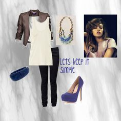 Lets keep it simple., created by lupitacortez on Polyvore