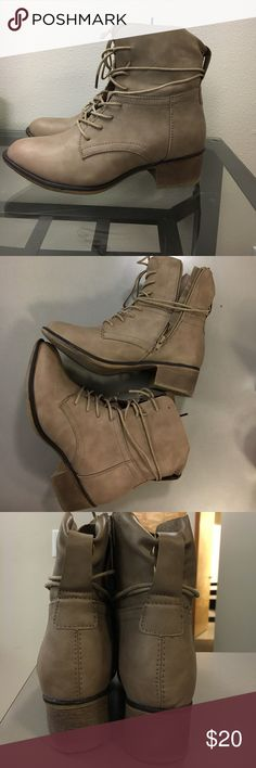 Ankle Boot Cute Fun Strappy Combat Boots! Great for any occasion! Only been worn once indoors! Bella Marie Shoes Ankle Boots & Booties