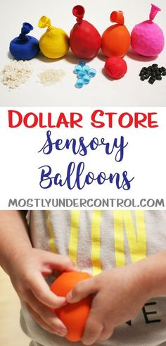 "(This post contains affiliate links) We've done sensory bins and we've done sensory bottles. I love sensory activities (obviously) so I wanted to keep going. If you search on Pinterest, these can be called ""sensory balls."" I couldn't bring myself to call them that – because I'm 10 years old. Anywho, I bring you Sensory …"