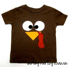 Turkey Shirt - This is such a cute idea! Would be easy to do with the boys if I stenciled with freezer paper and let them paint