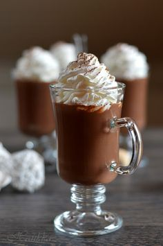 Chocolate Heaven, Hot Chocolate, Best Dessert Recipes, Fun Desserts, Cheesecake, Just Eat It, Hungarian Recipes, Frappe, Cacao