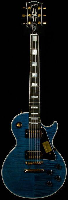 Benchmark Limited Run Gibson Les Paul Custom Guitar Pics, Cool Guitar, Gretsch, Gibson Les Paul, Blue Electric Guitar, Electric Guitars, Gibson Guitars, Bass Guitars, Acoustic Guitars
