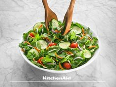 Salads come in all shapes and forms but a toss salad on a Spring Day is healthy fresh and light. What type of salad do you enjoy on a warm day? Much love from KitchenAid Africa xx. Types Of Salad, Heritage Month, Spring Day, Kitchenaid, Tossed, Spinach, Salads, Africa, Shapes