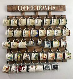 Coffee Cup Rack, Coffee Mug Display, Coffee Mug Holder, Coffee Bar Home, Coffee Shop, Coffee Coffee, Coffee Lovers, Coffe Bar, Ninja Coffee